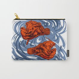Angler Fish and Crescent Moon Carry-All Pouch