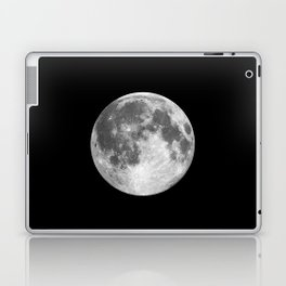 Full Moon print black-white photograph new lunar eclipse poster bedroom home wall decor Laptop & iPad Skin
