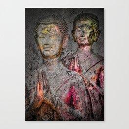 Prayers goldred Canvas Print