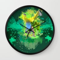 hiphop Wall Clocks featuring HipHop Forever by Frauste