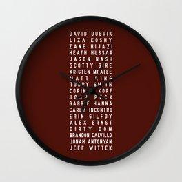 Vlog Squad Maroon II Wall Clock