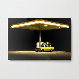 Yellow Car Metal Print