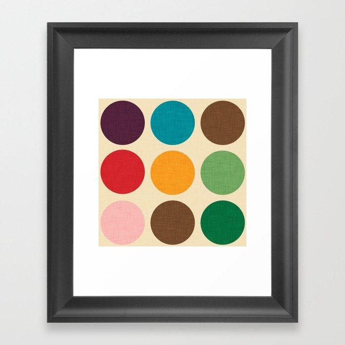 Mod Polka dots #homedecor #midcenturydecor Gerahmter Kunstdruck