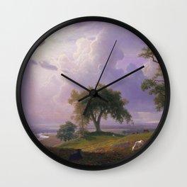 Albert Bierstadt - California Spring (1875) Wall Clock