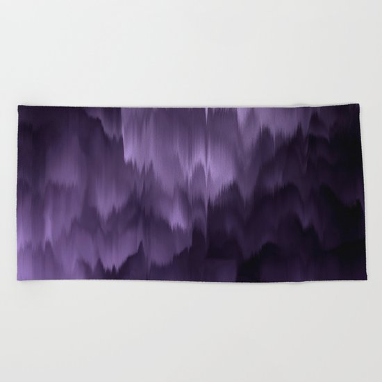 Purple and black. Abstract. Beach Towel