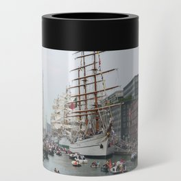 Tall ships in Amsterdam's Harbour Can Cooler