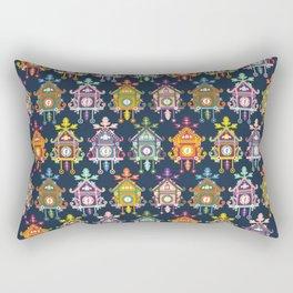 Colorful Cuckoo Clocks Rectangular Pillow