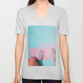 Both Feet In #society6 #buyart Unisex V-Neck