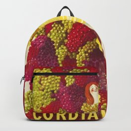 Vintage Italian Cordial Médoc Advertisement Poster by Leonetto Cappiello Backpack