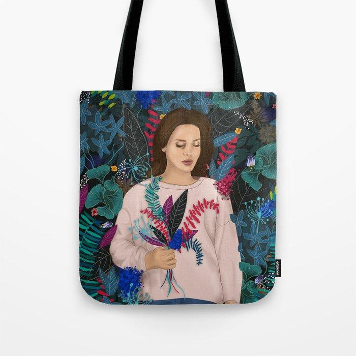 Lana in the jungle Tote Bag