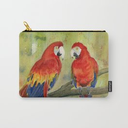 Scarlet Macaw Parrots Carry-All Pouch