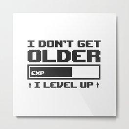 Gamer Saying Gaming Gift  Console Geek Player Metal Print