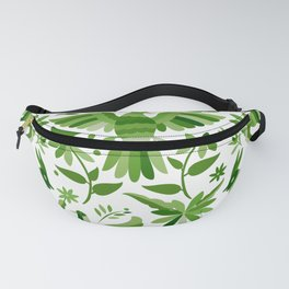 Mexican Otomí Design in Green Fanny Pack