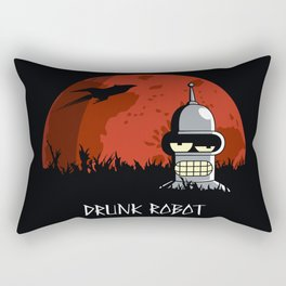 Drunk Robot Rectangular Pillow