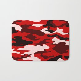 Red Camo Bath Mat