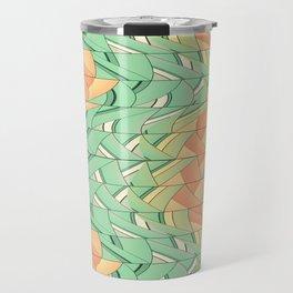 Emerald and salmon pattern Travel Mug