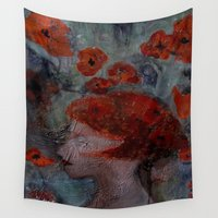 imagerybydianna Wall Tapestries featuring somnia by Imagery by dianna