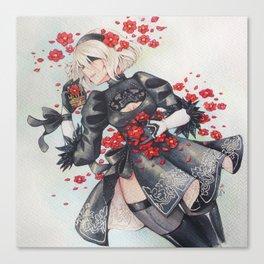 2B [Flowers] Canvas Print