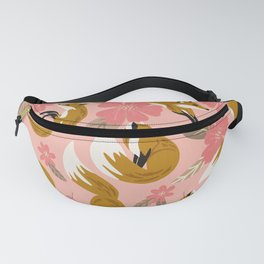 Foxes & Blooms – Pink & Caramel Fanny Pack