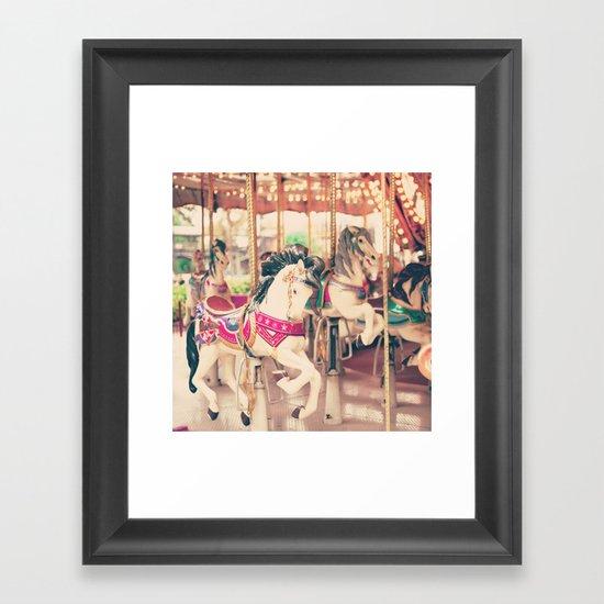 Galloping On Framed Art Print