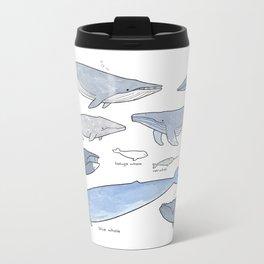 Whales Dolphins & Porpoises Metal Travel Mug