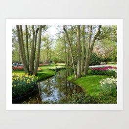Keukenhof Tulip Festival, Holland Art Print