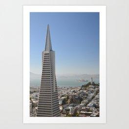 TransAmerica Building, Coit Tower and Alcatraz Art Print