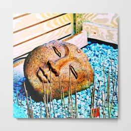 The mind can read what words cannot convey Metal Print