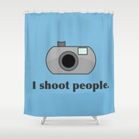 humor Shower Curtains featuring Photography Humor by Murphis the Scurpix