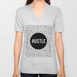 HUSTLE MODERN ART, Hustle Hard,Hustle Fashion Print,Hustle Decor,Motivational Quote,Office Decor,Dal Unisex V-Neck