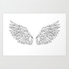 Polygonal wings Art Print