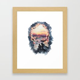 I live for the things I can't touch with my own hands Framed Art Print