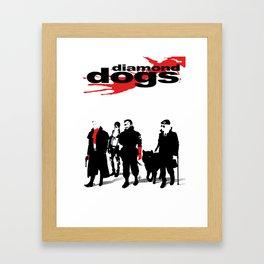 Diamond Dogs Framed Art Print