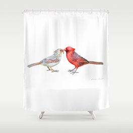 I Grub You by Teresa Thompson Shower Curtain