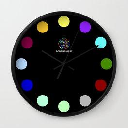 Robert Hirst Spot Clock Black Wall Clock