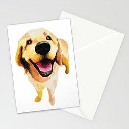 Good Boy / Yellow Labrador Retriever dog art Stationery Cards