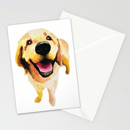 Good Boy / Yellow Labrador Retriever dog art Stationery Cards