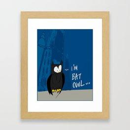 Bat Owl ... Framed Art Print