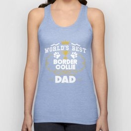 World's Best Border Collie Dad Unisex Tank Top