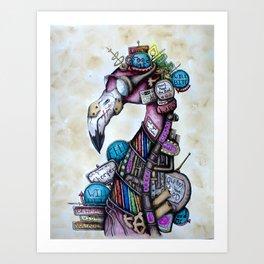 Chomper Art Print
