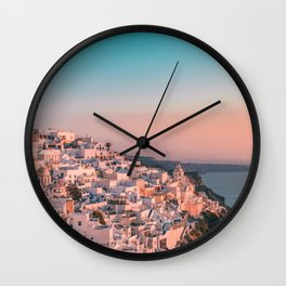 Sunset in Greece Photography  Wall Clock