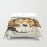 beagle Duvet Covers featuring Beagle by Tammy Kushnir