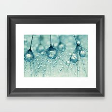 Sparkling Dandy Drops Framed Art Print