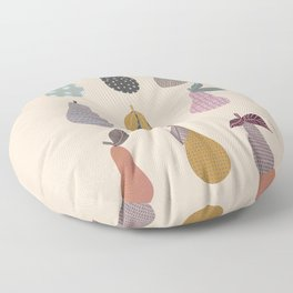 Patterned Pears Floor Pillow