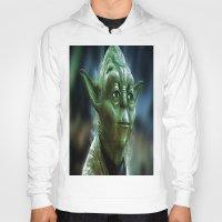 yoda Hoodies featuring Yoda by Robin Curtiss
