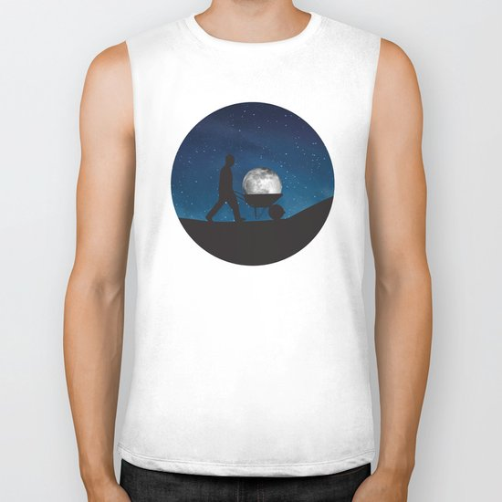 Moon In Wheelbarrow Biker Tank