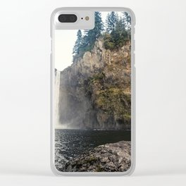 Beautiful Waterfall Clear iPhone Case