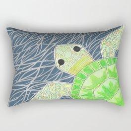 Tortu the Sassy Turtle Rectangular Pillow