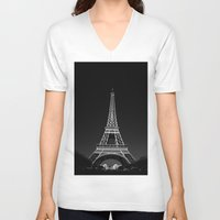 eiffel tower V-neck T-shirts featuring Eiffel Tower by alexaxm