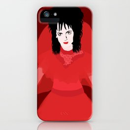 Lydia in Red on Maroon iPhone Case